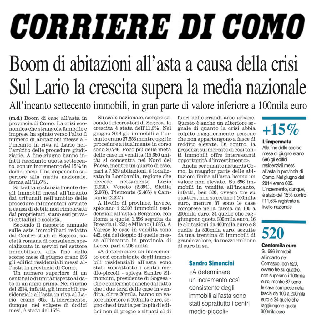 16 luglio 2015 Corriere di Como