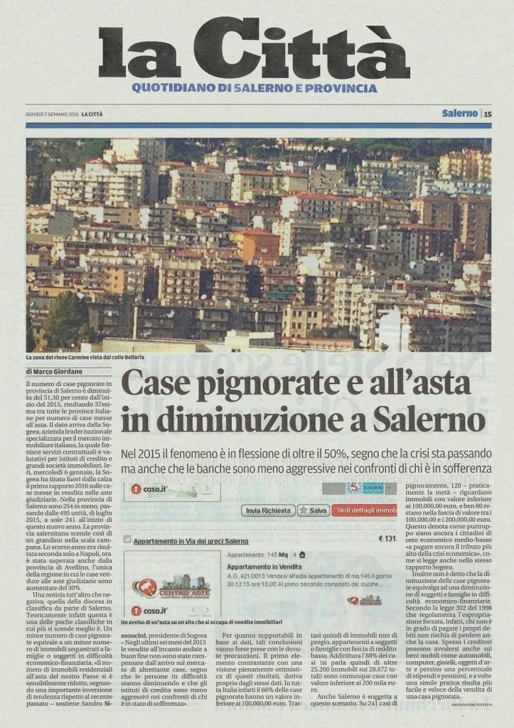 giovedì 7 gennaio 2016 La Città edizione Salerno 1