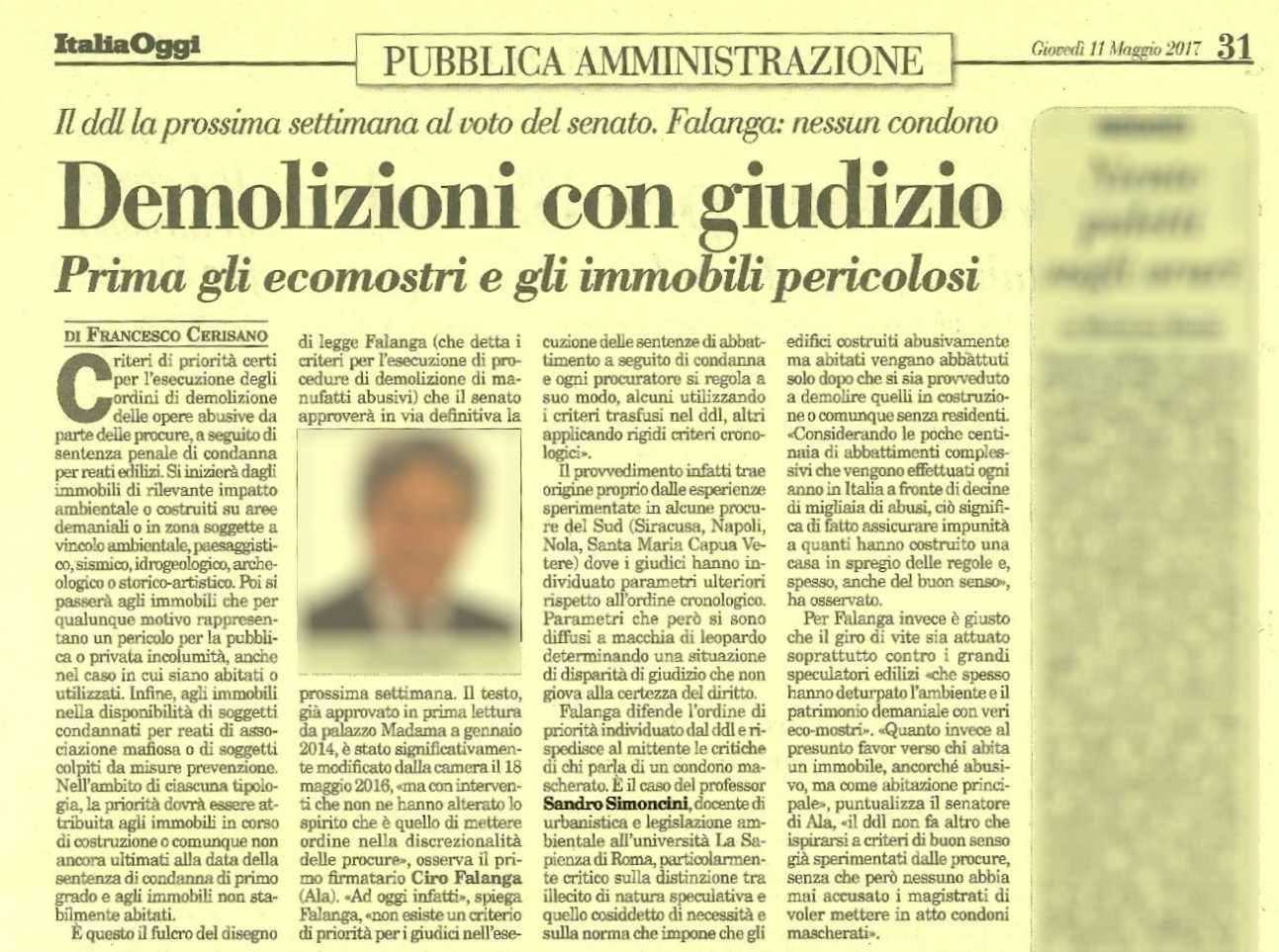 ITALIAOGGI 11MAGGIO 2017