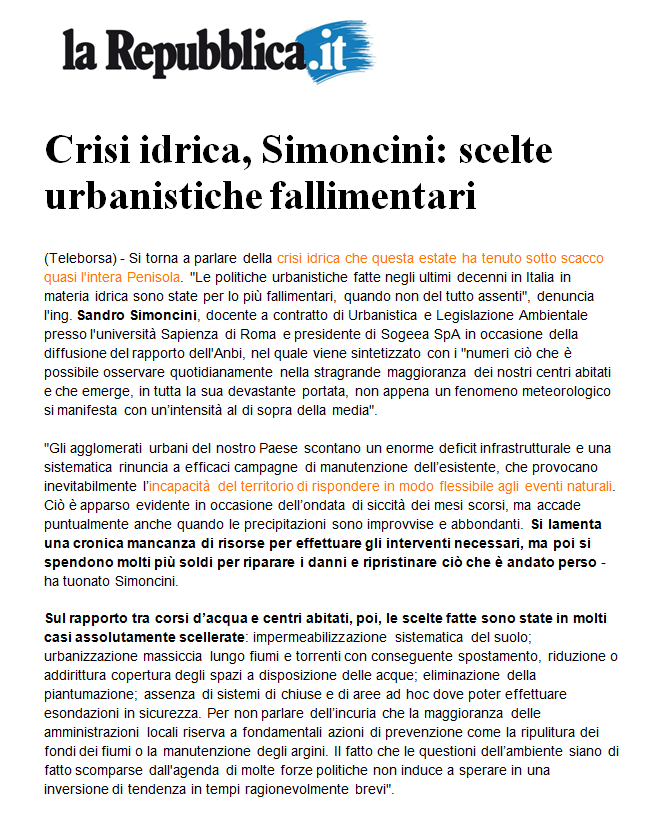 Repubblica.it 16 ottobre 2017