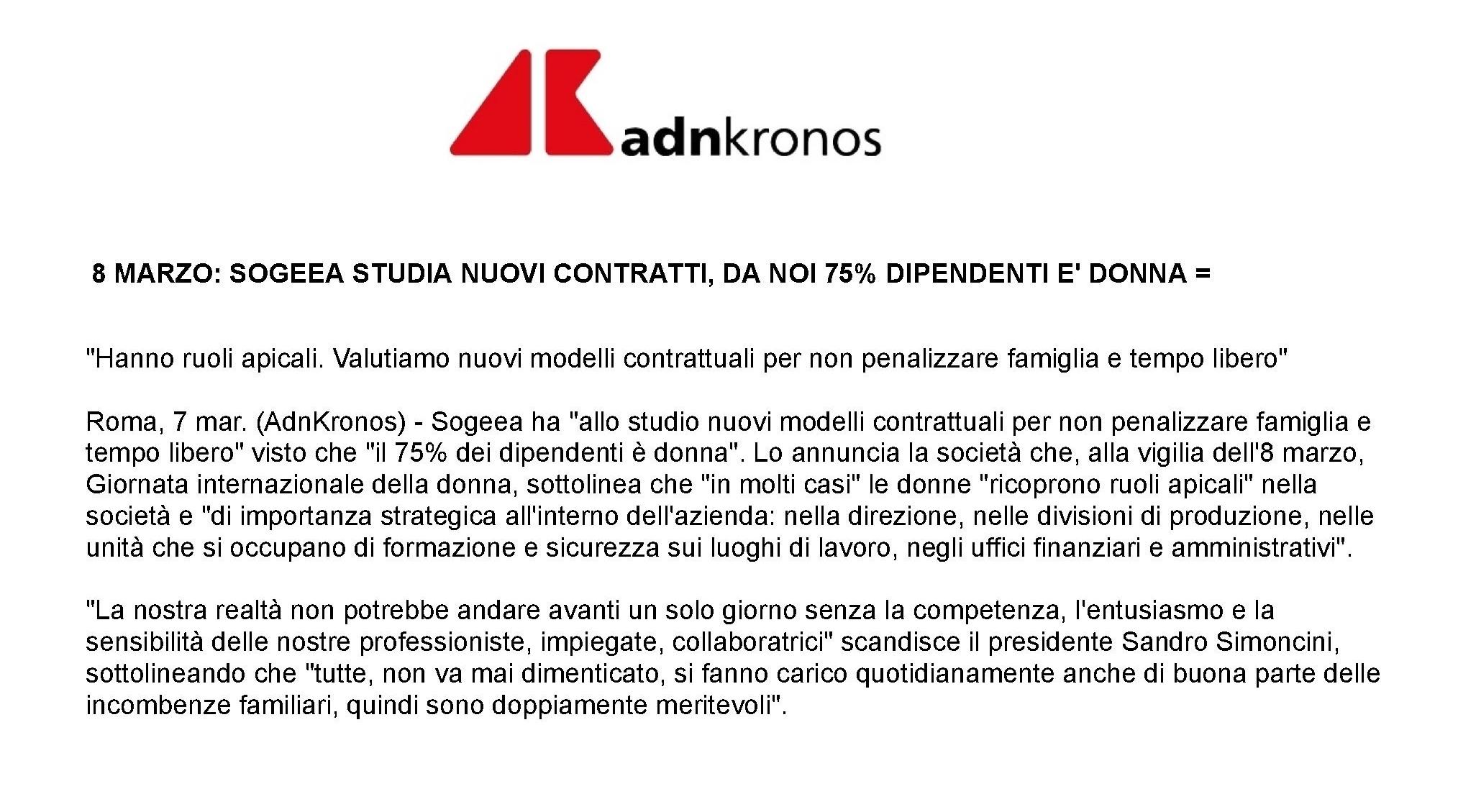 08.03 AdnKronos