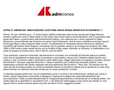 19.03 AdnKronos